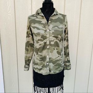 Size XS Camouflage Old Navy Button Down Top